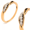 Złoty pierścionek z BRYLANTEM 0.10 ct