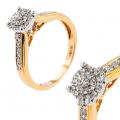 Złoty pierścionek z brylantem 0.20ct