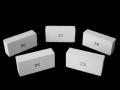 Cegła ognioodpornaprodukowana z glin ogniotrwałych, Cegły izolacyjne typu JM  wykorzystywane do produkcji pieców