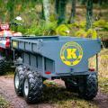 ATV прицеп 1420 кг с электрическим приводом гидравлического опрокидывания