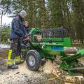 Смешайте дрова и расщепляет древесину пилы диаметром до 34 см