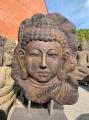 Kamienna płaskorzeźba do ogrodu Budda 120cm Ogrody w stylu orientalnym