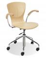 Krzesła obrotowe Bingo wood chrom gtp