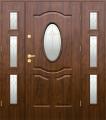 Drzwi stalowe KMT PLUS Z DOSTAWKAMI - zewnętrzne przeszklone