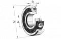 Łożyska kulkowe skośne, jednorzędowe. Grupa konstrukcyjna:72 B, 73 B