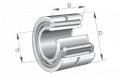 Łożyska igiełkowe- składają się z dwóch pierścieni i wieńca igiełek z koszykiem, który prowadzi dużą liczbę igiełek i zapobiega ich wypadaniu. Serie: NA48, NA49.