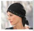Jedwabny, haftowany krótki turban