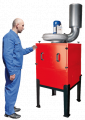 Systems and units for the filtration of dust, oils and other industrial liquids