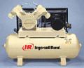 Stacjonarny kompresor ( sprężarka powietrza ) bezolejowy  z napędem pasowym, montowana na zbiorniku.