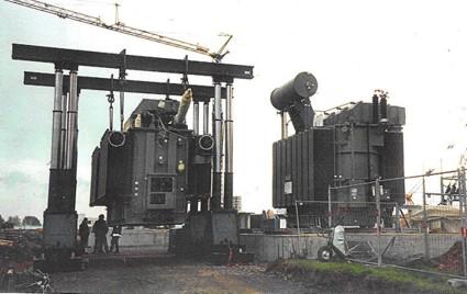 Zamówienie Posadowienie transformatora 103 tony.
