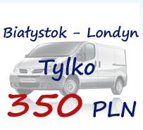 Zamówienie Bialystok-Londyn przewóz osób przesyłek i bagażu