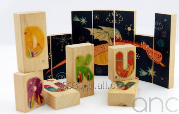 Zamówienie Druk na drewnie, sklejce, klockach