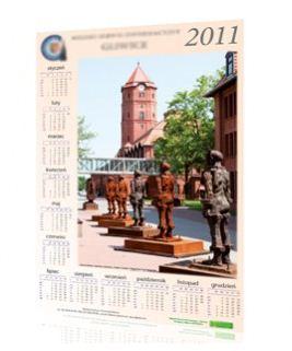 Zamówienie Druk kalendarzy ściennych plakatowych w pełnym kolorze.