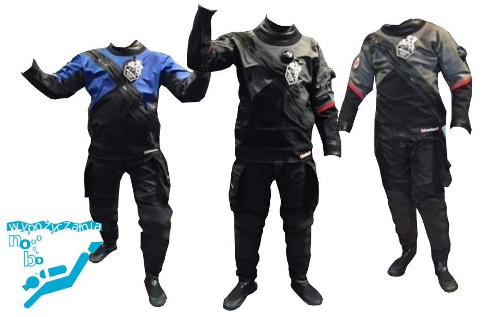 Zamówienie Wypożyczanie suchych skafandrów w rozmiarze: M, L lub XL