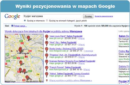 Zamówienie Pozycjonowanie w mapach Google