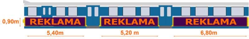 Zamówienie Reklama na wagonach SKM