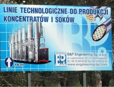 Zamówienie Tablice billboardowe