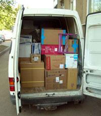 Zamówienie Transport towarów z/do Londynu