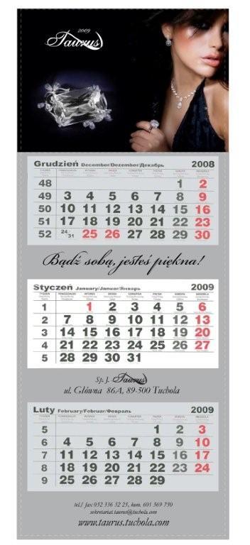 Zamówienie Kalendarze trójdzielne
