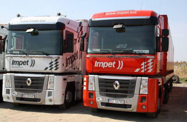 Zamówienie Przewóz towarów przemysłowych ciągnikami Renault Magnum z naczepami 1360cm/248cm/280cm