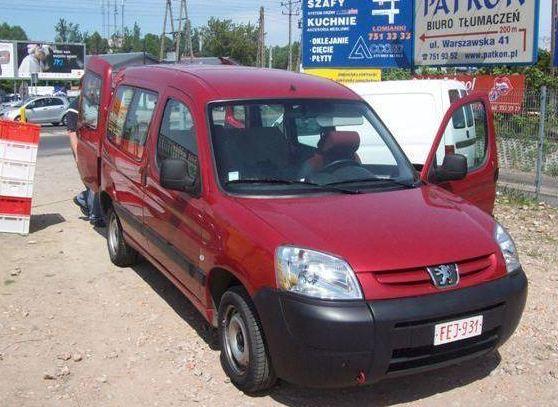 Zamówienie Samochody małe, Peugeot Partner