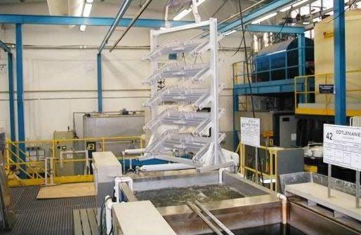 Zamówienie Linia anodowania elementów podwozi samolotowych
