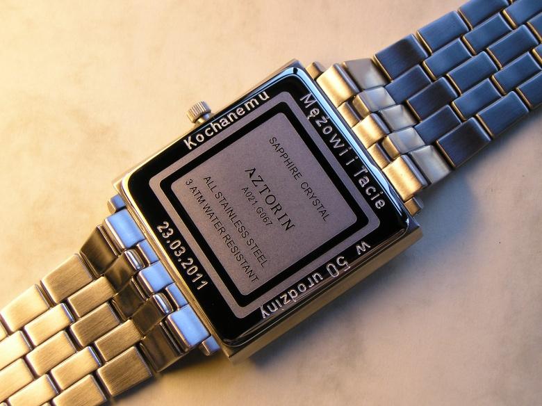 Zamówienie Grawerowanie zegarków