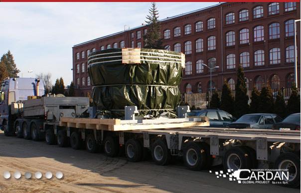 Zamówienie Międzynarodowy transport ładunków ponadgabarytowych