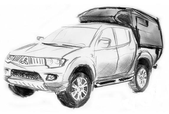 Zamówienie Przerabianie pick-up na samochód campingowy