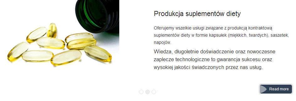 Zamówienie Wszelkie usługi dla suplementów diety