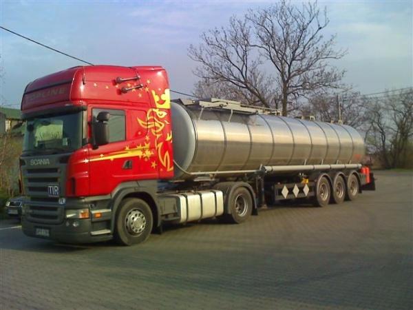 Zamówienie Transport ładunków ciekłych