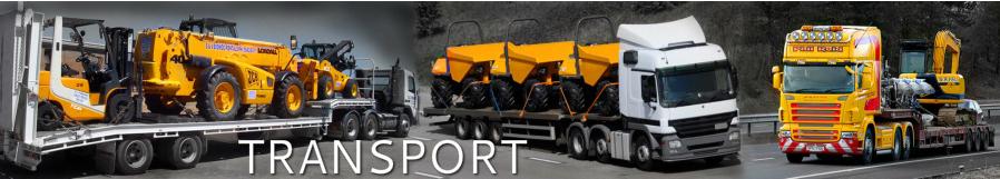 Zamówienie Transport maszyn budowlanych