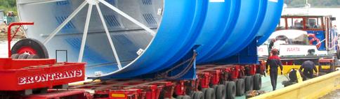 Zamówienie Przeładunek i przewóz ładunków nietypowych, ciężkich i ponadgabarytowych takich jak maszyny budowlane, konstrukcje stalowe i żelbetonowe elementy linii technologicznych, wieże wiatrowe, transformatory, jachty, suwnice i maszyny rolnicze