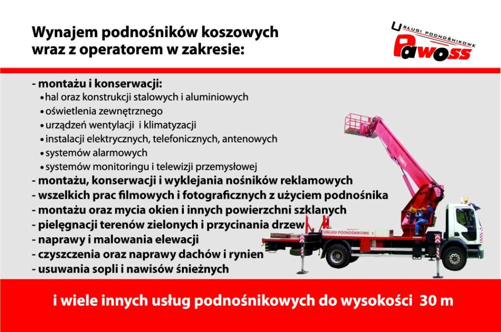 Zamówienie Usługi Podnośnikiem Koszowym do 30M Elbląg i Okolice 24H