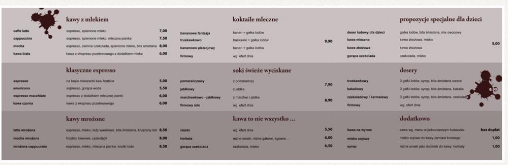 Zamówienie Kawiarnia