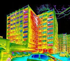 Termowizyjne pomiary budynków.