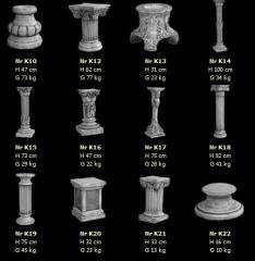 Elementy dekoracyjne z betonu wg indywidualnych