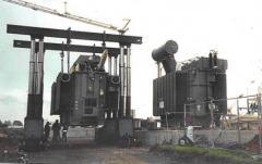 Posadowienie transformatora 103 tony.