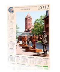 Druk kalendarzy ściennych plakatowych w pełnym kolorze.