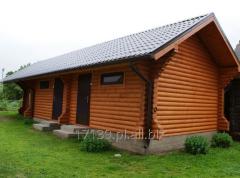 Budowa saun drewnianych z bali kwadratowych, okrągłych i konstrukcyjnych typu sandwich.