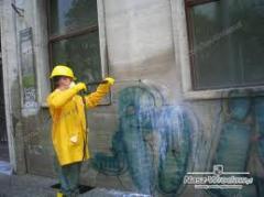 Chemiczne usuwanie graffiti z niezabezpieczonej