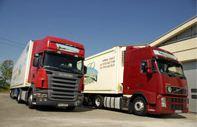 Transport międzynarodowy warzyw i owoców w chłodniach.