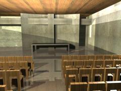 Projektowanie architektoniczne wnętrz kościołów i obiektów użyteczności publicznej.