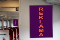 Reklama w ramkach wewnątrz pociągów SKM