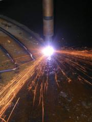 Rolled steel cutting