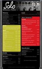 Projektowanie menu, ulotek, banerów