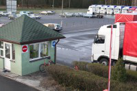 Services of parking place for trucks