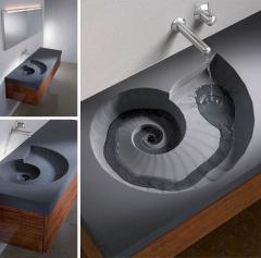 Umywalka z blatem amonit 120 x 56 cm