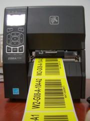 Zadruk etykiet, przywieszek i opasek identyfikacyjnych