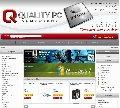 Strona firmy QualityPC, sklepu komputerowego.  Użyta technologia: OsCommerce Gold